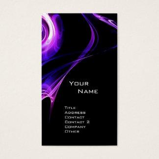 FRACTAL ROSE 3 bright blue purple violet black Business Card