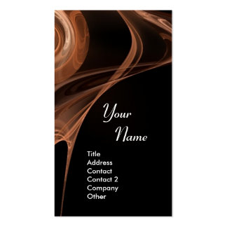 FRACTAL ROSE 3 bright  brown black Double-Sided Standard Business Cards (Pack Of 100)