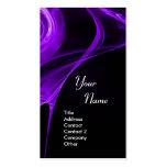 FRACTAL ROSE 3 bright dark purple Business Card