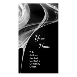 FRACTAL ROSE 3 bright light black and white grey Double-Sided Standard Business Cards (Pack Of 100)