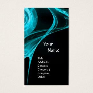 FRACTAL ROSE 3 bright light blue black Business Card