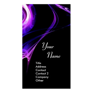 FRACTAL ROSE 3 bright light blue  purple violet Double-Sided Standard Business Cards (Pack Of 100)