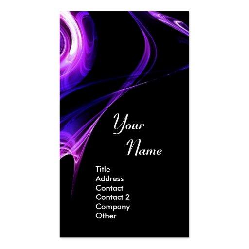 FRACTAL ROSE 3 bright light blue  purple violet Business Card Template