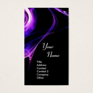FRACTAL ROSE 3 bright light blue  purple violet Business Card