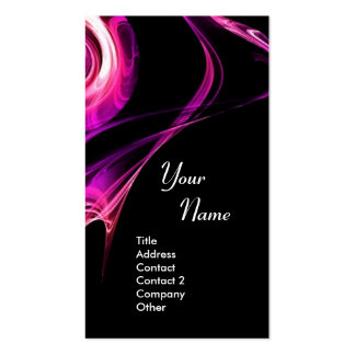 FRACTAL ROSE 3 bright light pink purple violet Double-Sided Standard Business Cards (Pack Of 100)