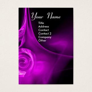 FRACTAL ROSE 3 bright light purple black Business Card