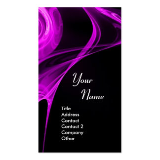 FRACTAL ROSE 3 bright light purple black Double-Sided Standard Business Cards (Pack Of 100)