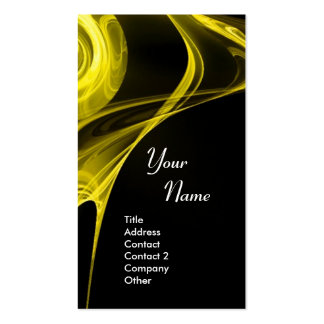 FRACTAL ROSE 3 bright light yellow Double-Sided Standard Business Cards (Pack Of 100)
