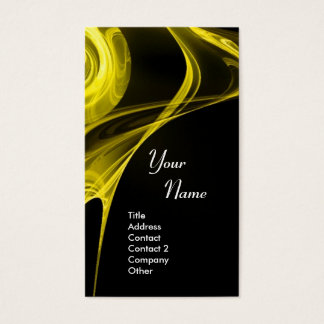 FRACTAL ROSE 3 bright light yellow Business Card