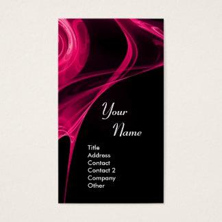 FRACTAL ROSE 3 bright pink Business Card