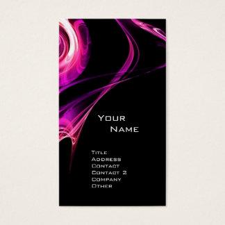 FRACTAL ROSE 3 bright pink purple violet black Business Card