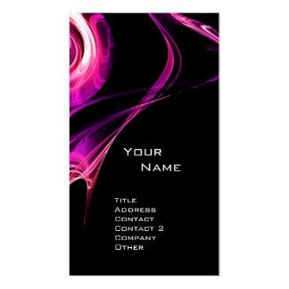 FRACTAL ROSE 3 bright pink purple violet black Double-Sided Standard Business Cards (Pack Of 100)
