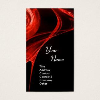 FRACTAL ROSE 3 bright red black Business Card