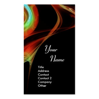FRACTAL ROSE 3 bright red blue green Double-Sided Standard Business Cards (Pack Of 100)