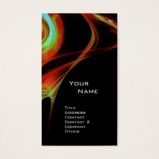 FRACTAL ROSE 3 bright red blue green Business Card