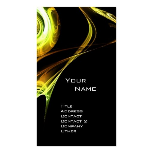 FRACTAL ROSE 3 bright yellow brown Double-Sided Standard Business Cards (Pack Of 100)