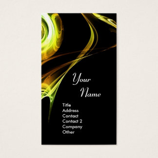 FRACTAL ROSE 3 bright yellow brown Business Card