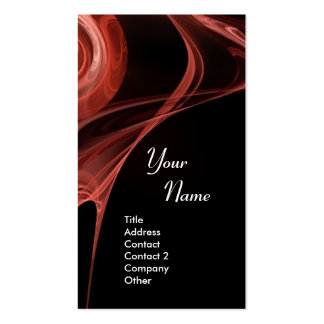 FRACTAL ROSE 3 soft antique red Double-Sided Standard Business Cards (Pack Of 100)