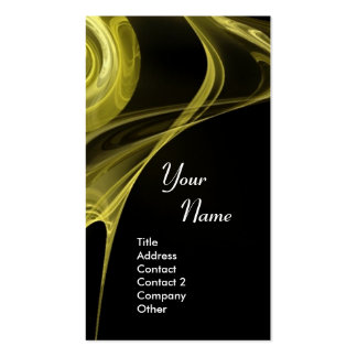 FRACTAL ROSE 3 soft antique yellow black Double-Sided Standard Business Cards (Pack Of 100)