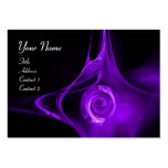 FRACTAL ROSE , ABSTRACT SWIRLS purple violet black Business Card Templates