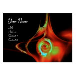 FRACTAL ROSE ABSTRACT SWIRLS red teal green black Business Cards