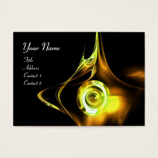 FRACTAL ROSE ABSTRACT SWIRLS yellow brown black Business Card
