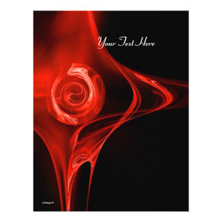FRACTAL ROSE bright red black Flyer