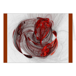 Fractal Rose , red Card