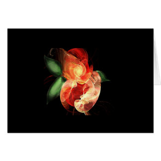 fractal roses card
