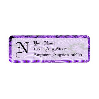 Fractal S~01 Monogram Avery Return Address Labels