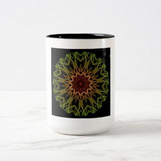 Fractal Sacred Geometry Rasta Coffee Tea Cup Mug