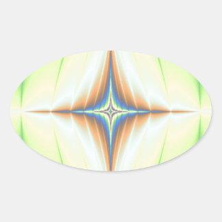 Fractal septentrional de la estrella colcomanias de oval personalizadas