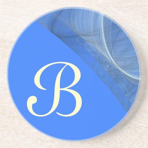 Fractal Series-11-Blue de la esquina coaster-1 de  Posavasos Para Bebidas