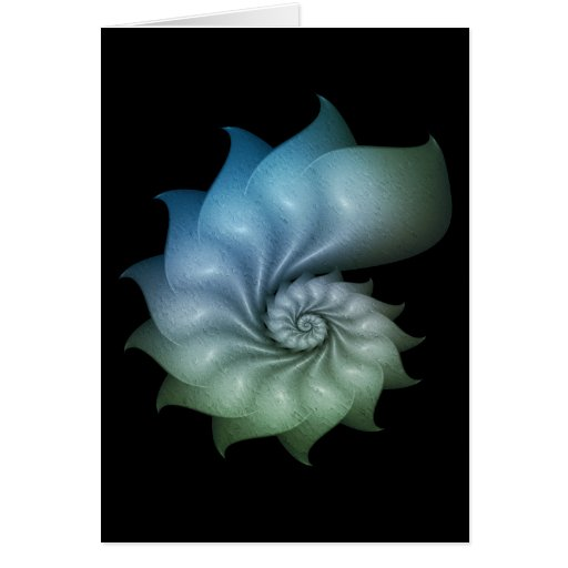 Fractal Shell Greeting Card
