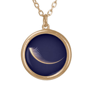Fractal Shofar Gold Plated Necklace