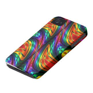 Fractal Silk Rainbow iPhone 4 Cover