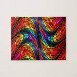 """Fractal Silk Rainbow Jigsaw Puzzle<br><div class=""""desc"""">Stunning metallic Silk Fractal texture</div>"""