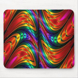 Fractal Silk Rainbow Mouse Pad