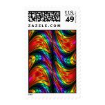 Fractal Silk Rainbow Stamp