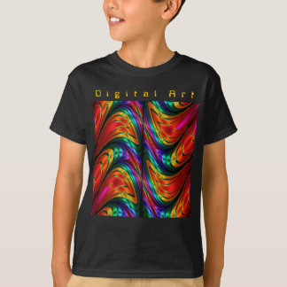 Fractal Silk Rainbow T-Shirt