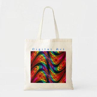 Fractal Silk Rainbow Tote Bag