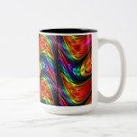 Fractal Silk Rainbow Two-Tone Coffee Mug