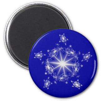 Fractal Silver Star Magnet