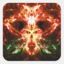 Fractal Skull Monster Sticker