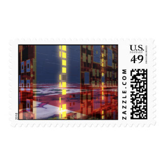 Fractal Skyscraper Stamp