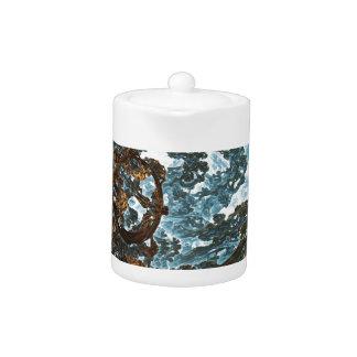 Fractal Skyworld Decorative Teapot
