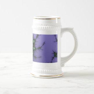 Fractal Snail - green and purple fractal design Beer Stein