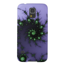 Fractal Snail - green and purple fractal design Case For Galaxy S5