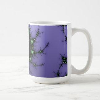 Fractal Snail - green and purple fractal design Coffee Mug