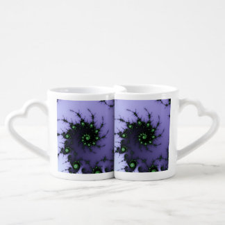 Fractal Snail - green and purple fractal design Coffee Mug Set